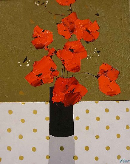 View Poppies and Dark Vase