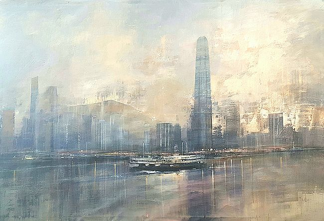 Rafael in Hong Kong Bay  by Cristina  Bergoglio
