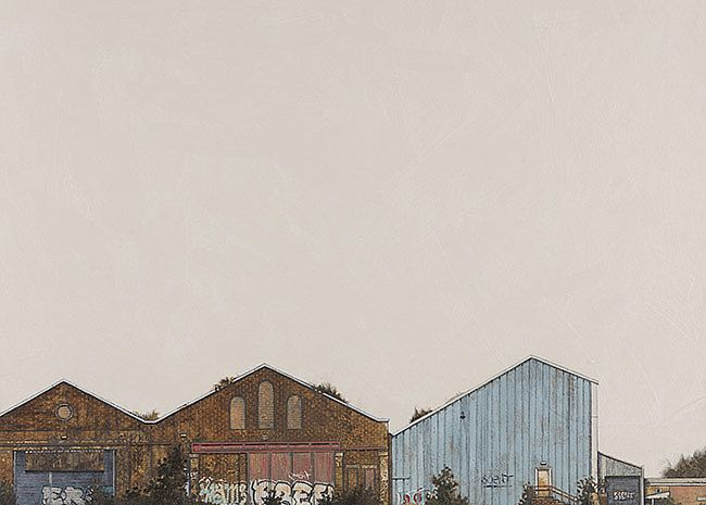 Railway Sheds by Cate  Inglis