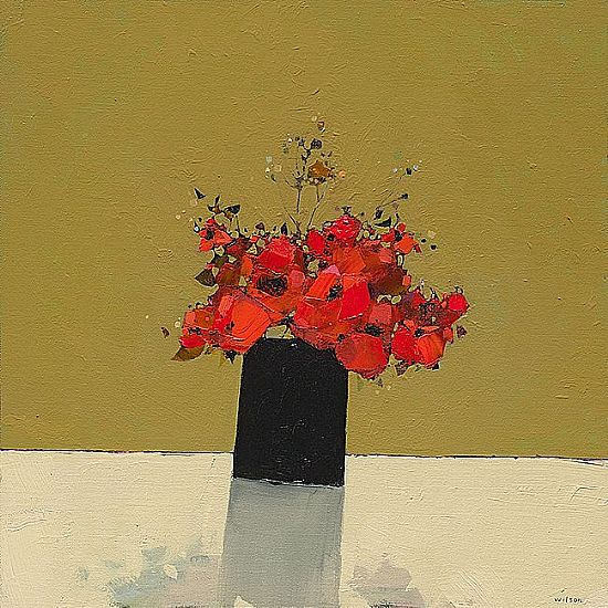 View Small Dark Vase of Poppies 1