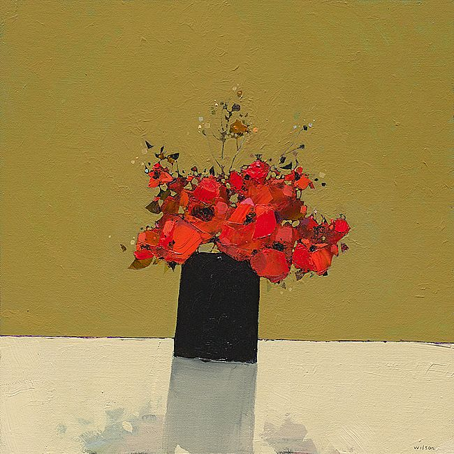 Gordon  Wilson - Small Dark Vase of Poppies 1