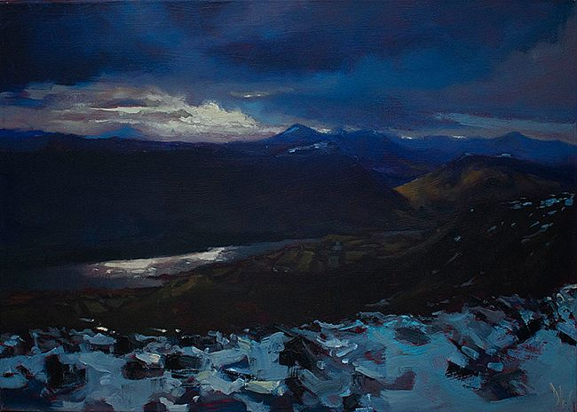 Dave West - Snow, descending Nephin