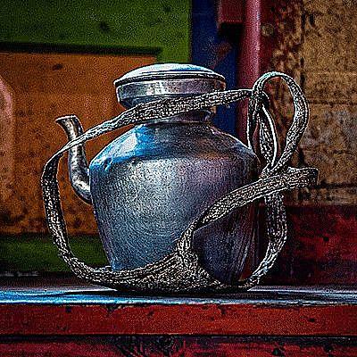 View Tibetan teapot