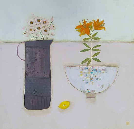 Eithne  Roberts - Tiger Lily lemon and anemones