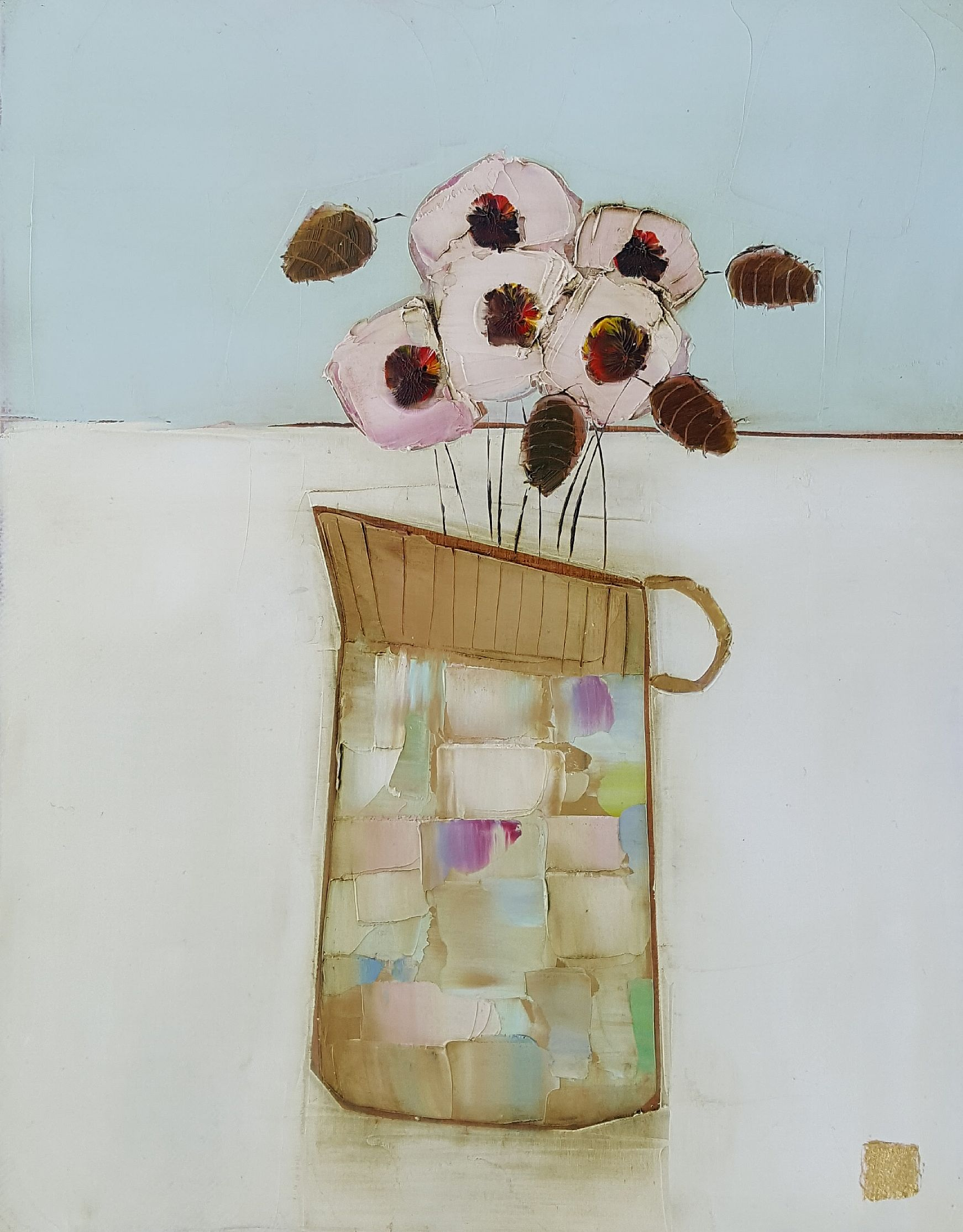 Eithne  Roberts - Tiny jug on linen