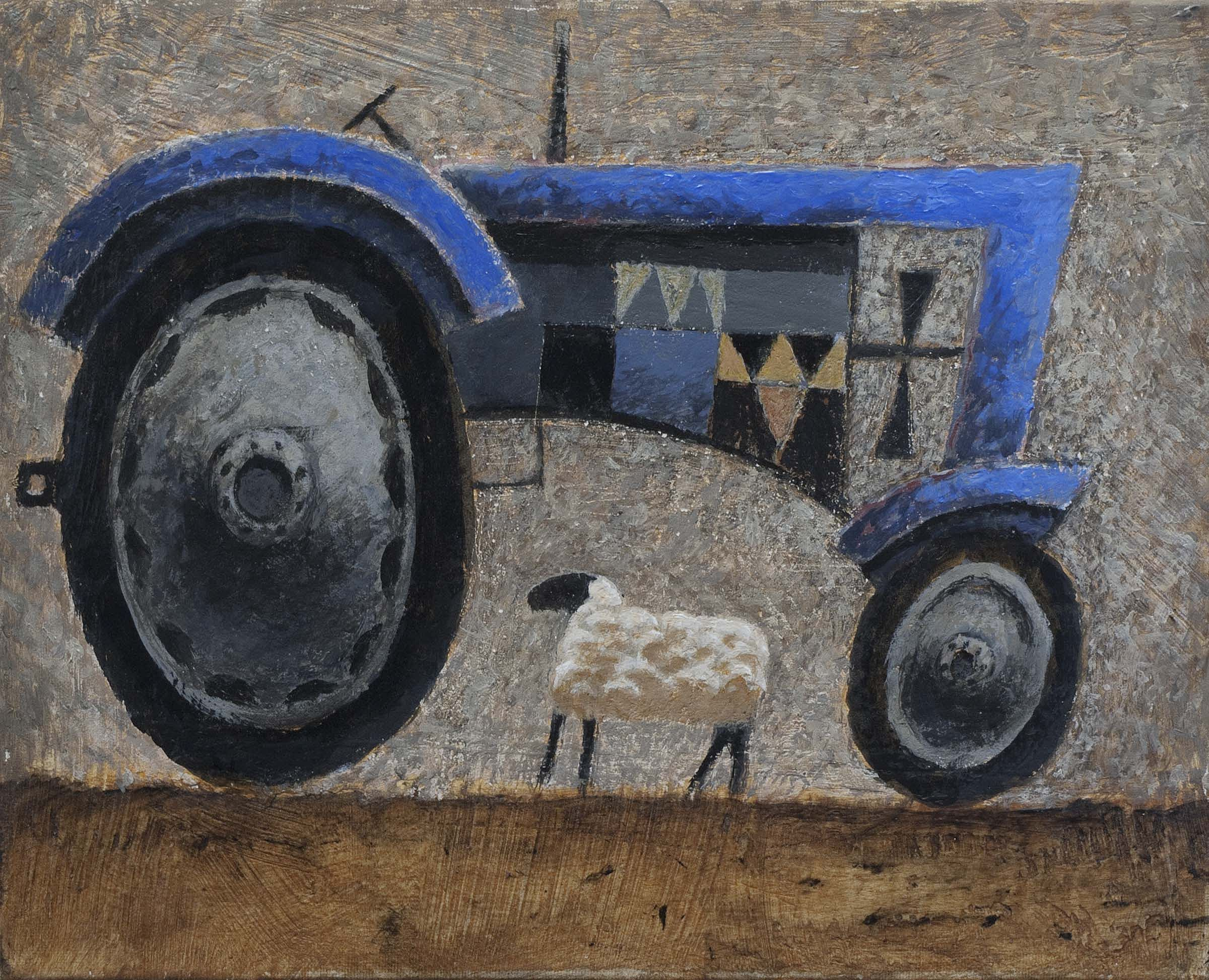 John  McNulty - Tractor with sheep