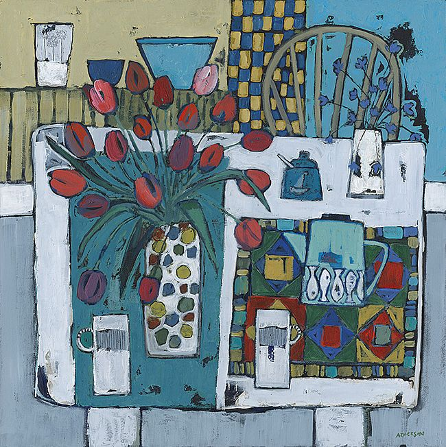 Alison  Dickson - Tulip's and patchwork