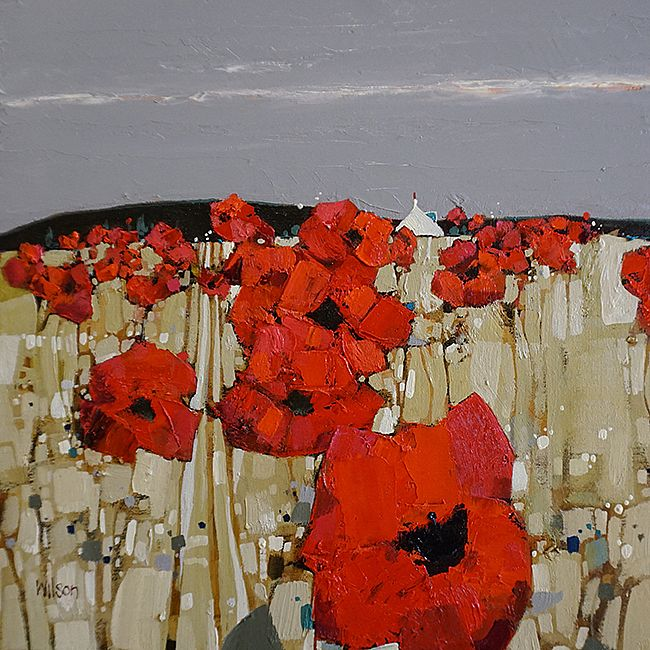 Gordon  Wilson - Wild Poppies and Bothy