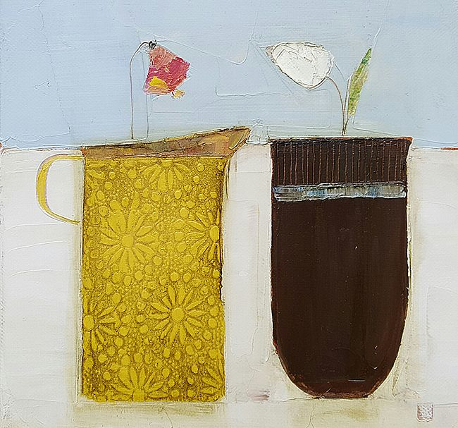 Eithne  Roberts - Yellow jug and little vessel