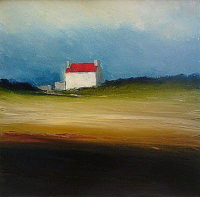 View A red farmhouse