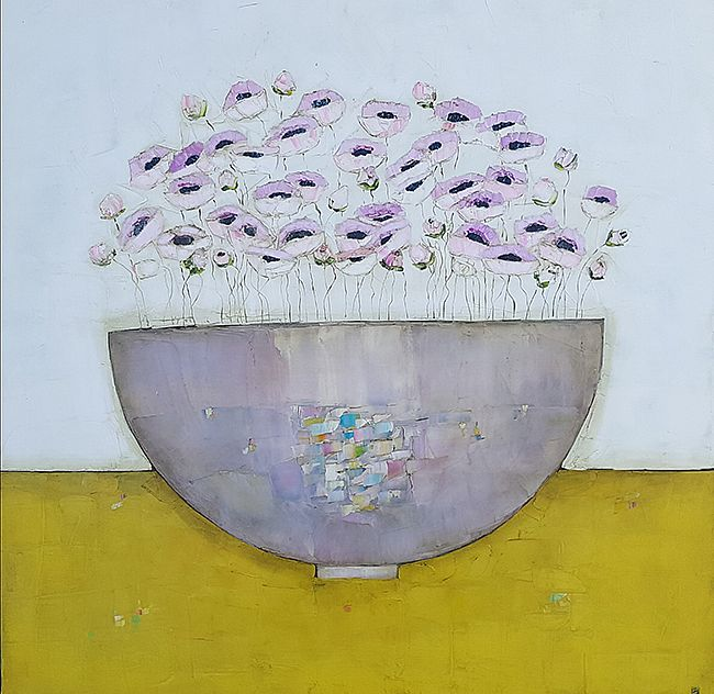 Eithne  Roberts - All pink and mustard