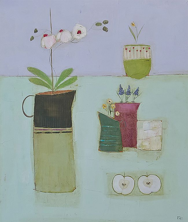 Eithne  Roberts - Apple and orchids