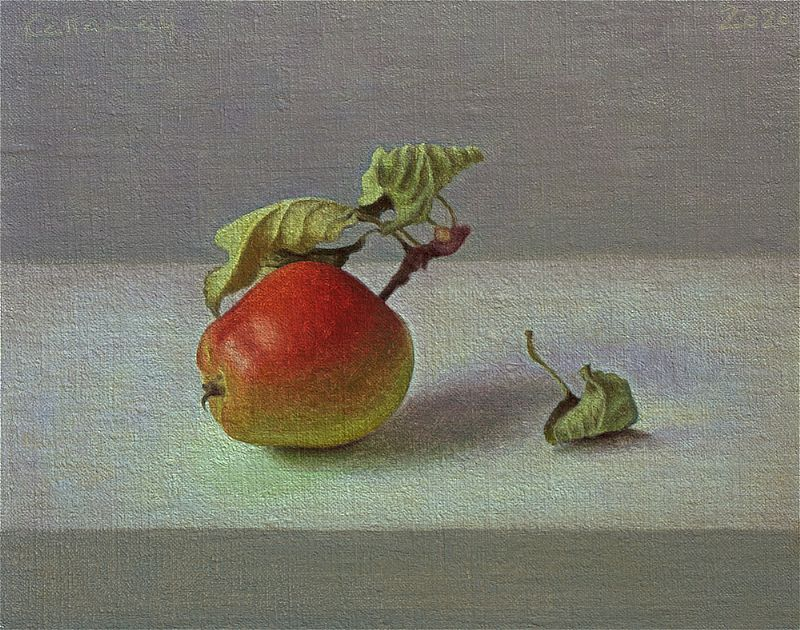 View Apple With Leaf