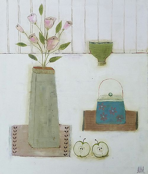 Eithne  Roberts - Apples and Tea Caddy