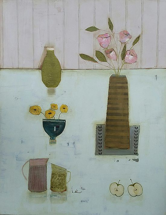 Eithne  Roberts - Apples Jugs and Pink flowers