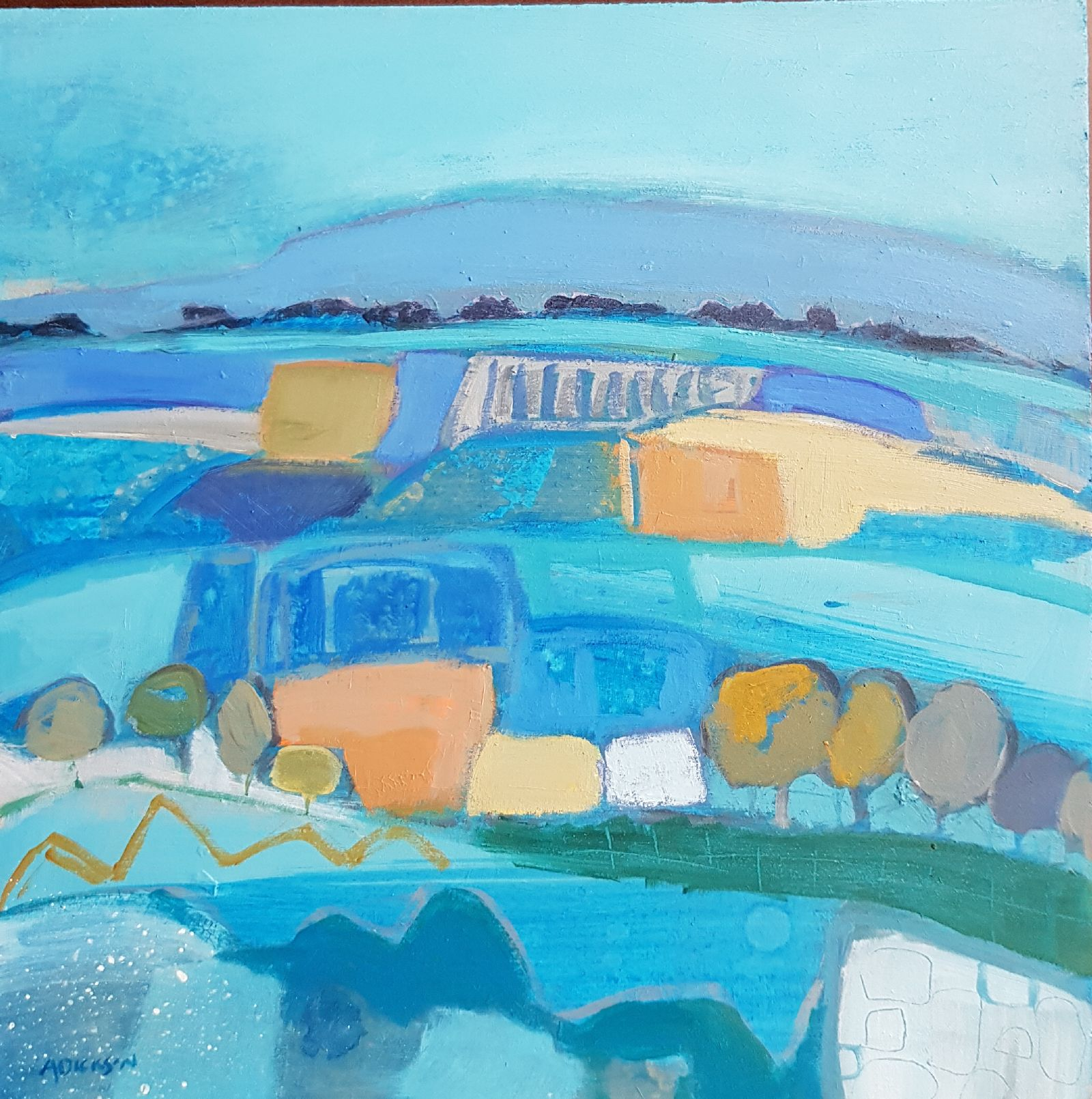 Belmore Mountain Patchwork by Alison  Dickson