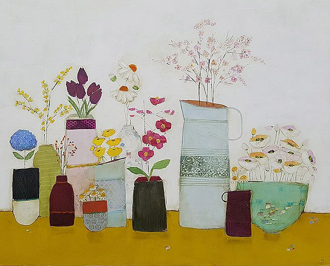 Eithne  Roberts - Big mustard summer shelf