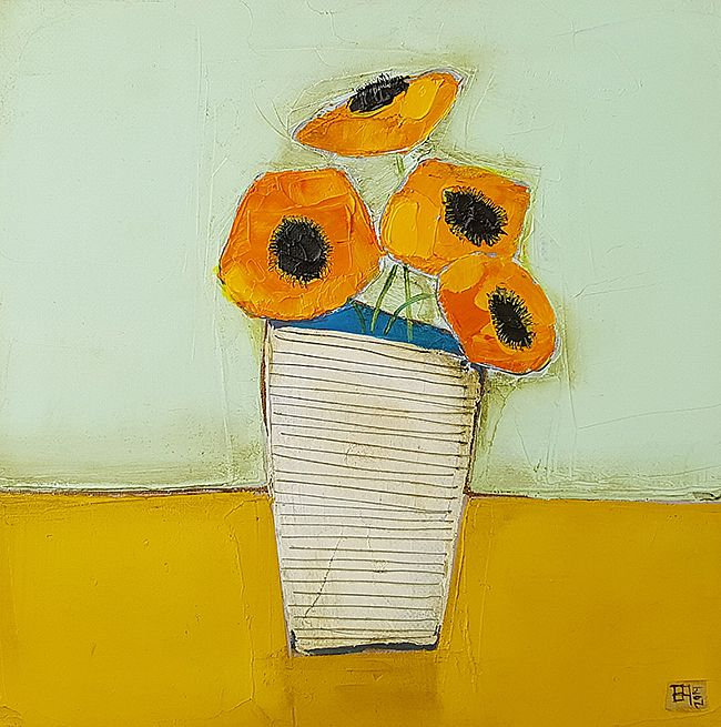 Eithne  Roberts - Big orange blooms