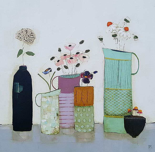 Eithne  Roberts - blue bottle and jugs