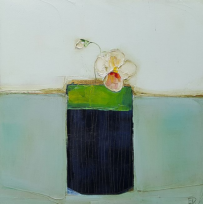 Eithne  Roberts - Blue pot and pansy