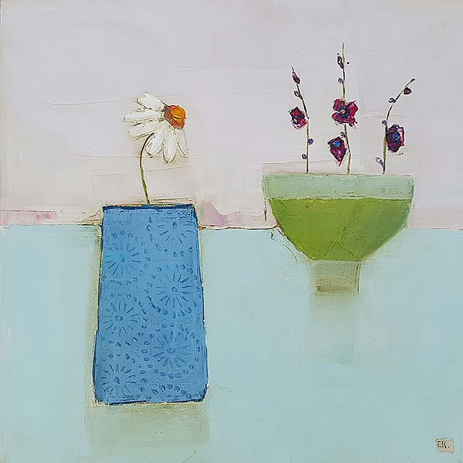 Eithne  Roberts - Blue vase green bowl