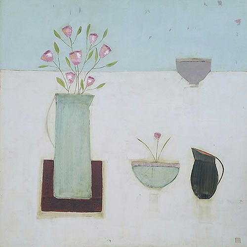 Eithne  Roberts - Blue bowl and jug