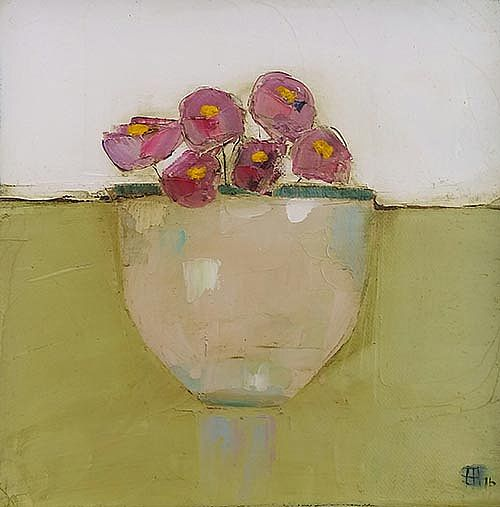 Eithne  Roberts - Bowl of pinks