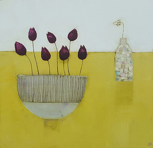 Eithne  Roberts - Bowl of tulips