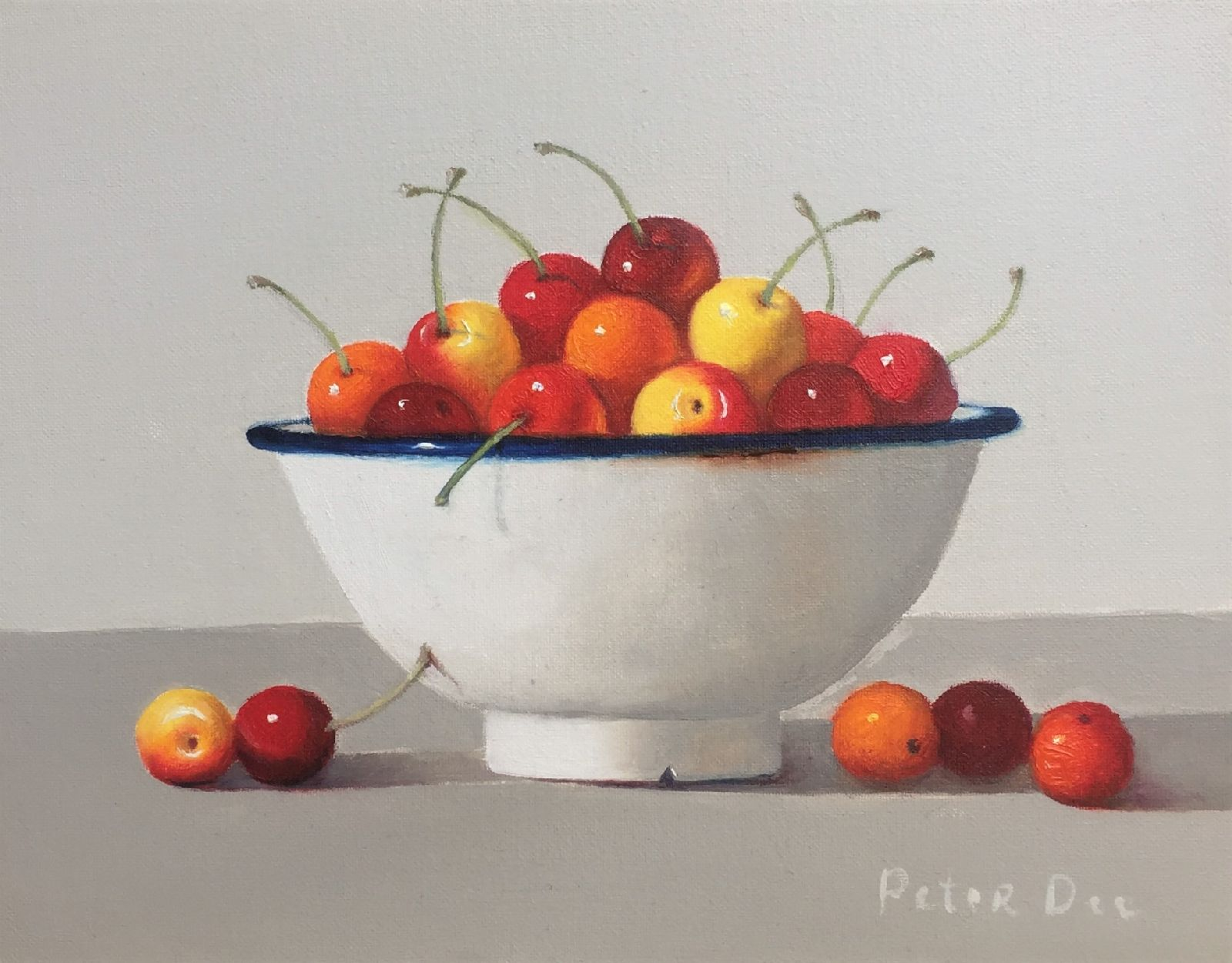 Bowl Cherries Still Life by Peter Dee
