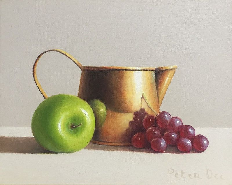 View Brass Jug with Fruit