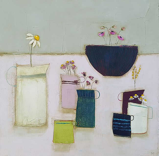 Eithne  Roberts - Breakfast table with daisy jug