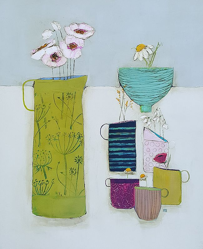 Eithne  Roberts - Breakfast time with large green jug