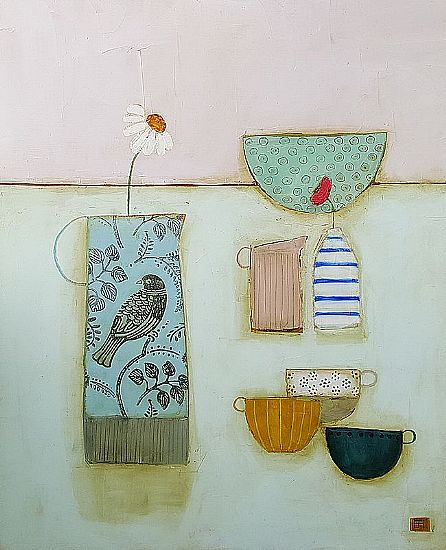 Eithne  Roberts - breakfast with bird jug