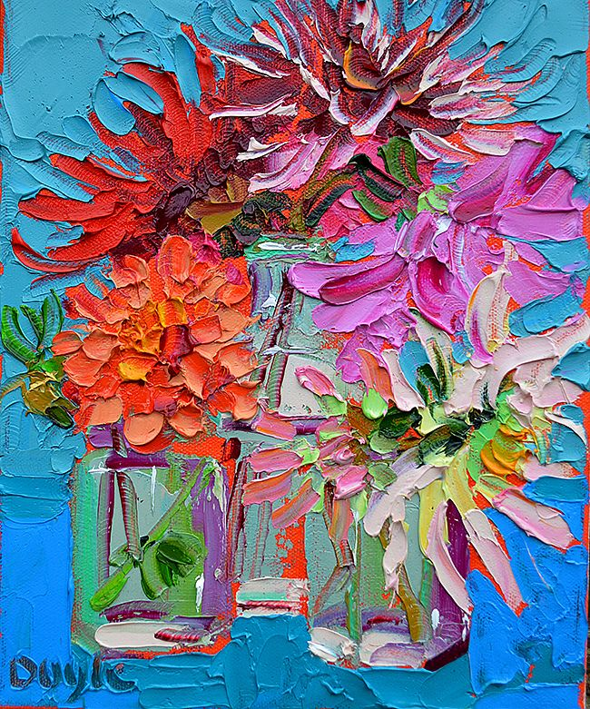 Lucy Doyle - broken blooms turquoise