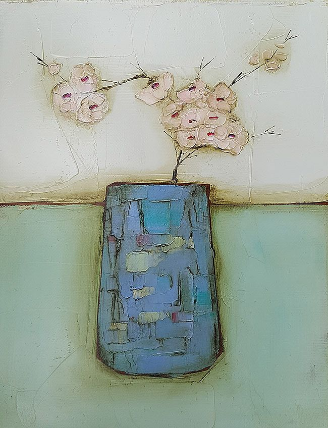 Eithne  Roberts - Cherry blossom in blue
