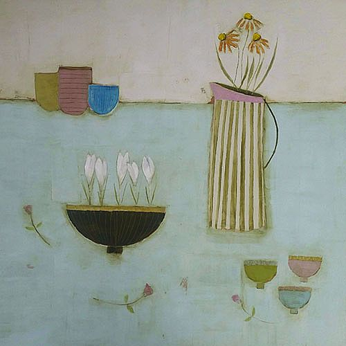 Eithne  Roberts - Crocus Bowl and 3 small cups
