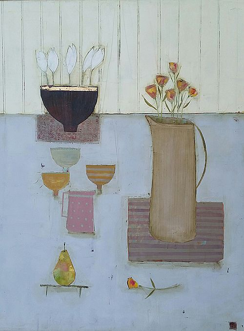 Eithne  Roberts - Crocus bowl and pear