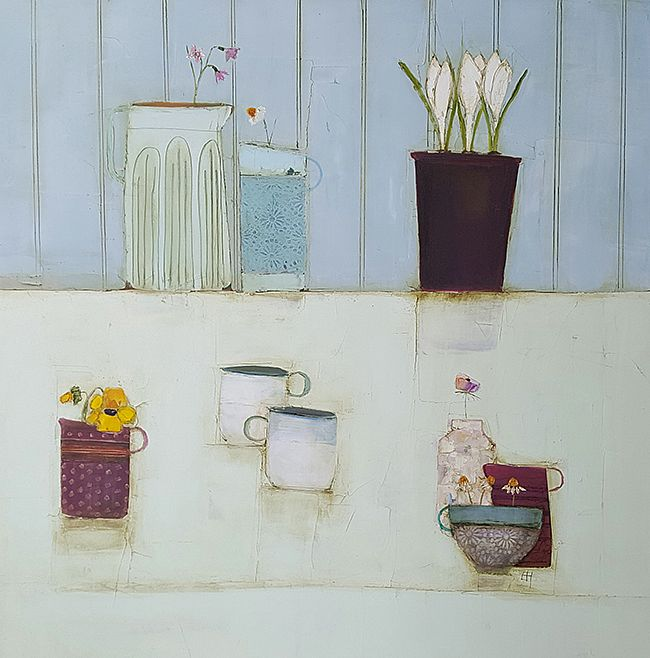 Eithne  Roberts - Crocus, cups and jugs and blooms