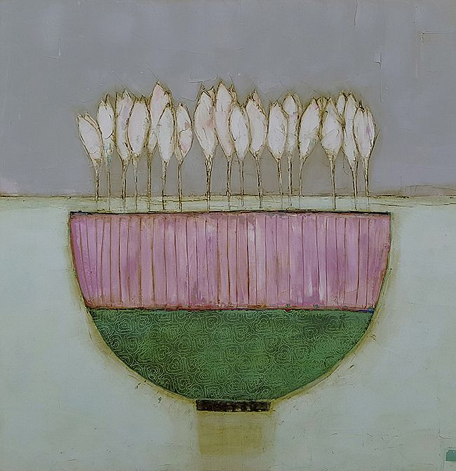 Eithne  Roberts - Crocus in large pink and green