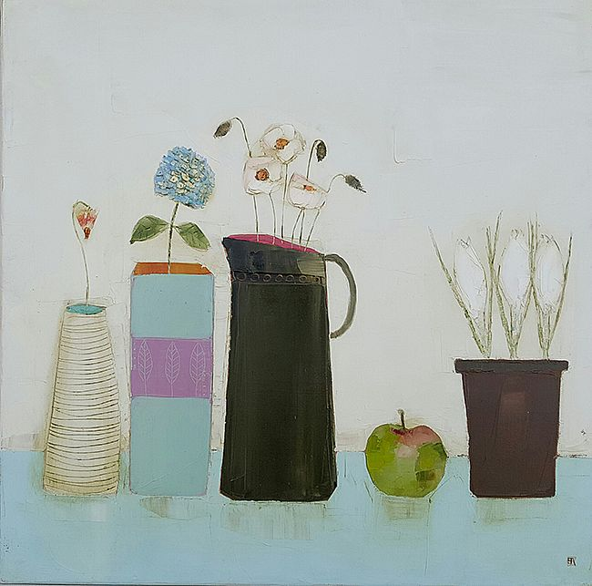 Eithne  Roberts - Crocus pot, apple and other flowers