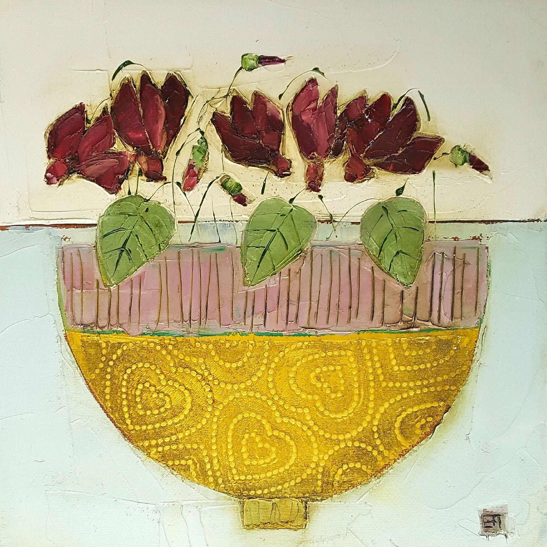 Eithne  Roberts - Cyclamen bowl