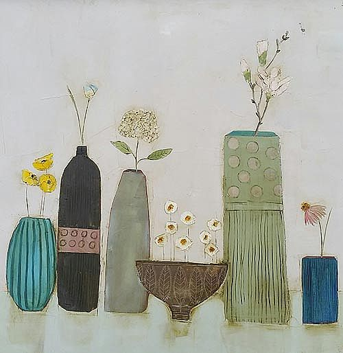 Eithne  Roberts - Daisy bowl and other blooms
