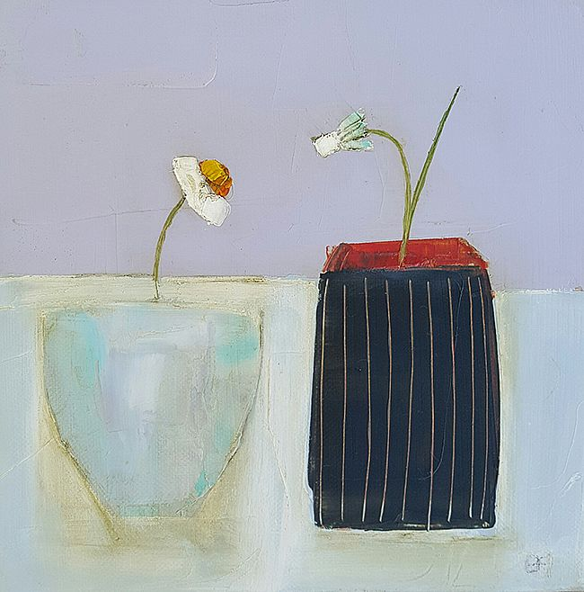 Eithne  Roberts - Dark stripes and daisy