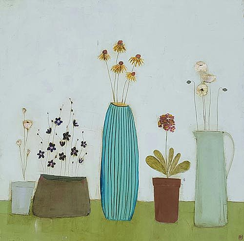 Eithne  Roberts - Echinacea vase and other blooms