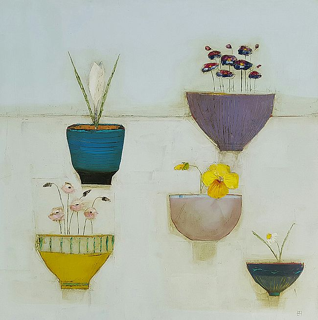 Eithne  Roberts - Five flower bowls
