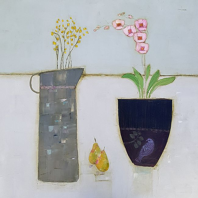 Eithne  Roberts - Forsythia, pears and orchid