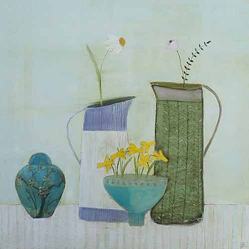 Eithne  Roberts - Ginger jar, jugs and bowl