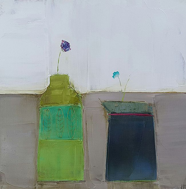 Eithne  Roberts - Green bottle blue jug