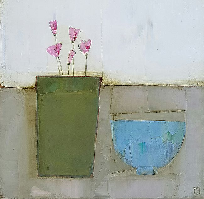 Eithne  Roberts - Green pot, blue bowl
