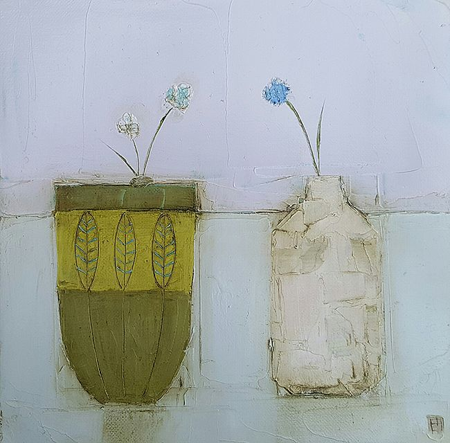 Eithne  Roberts - Green pot white bottle